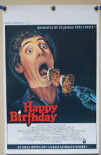 Happy Birthday to Me Horror Poster - Belgian